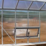 Building a polycarbonate Cross Country greenhouse, polycarbonate greenhouse, solar operated venting windows